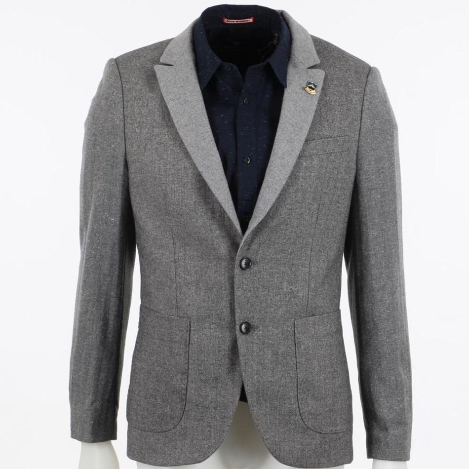Scotch & Soda Half-Lined Wool Blazer - gry gry tweed