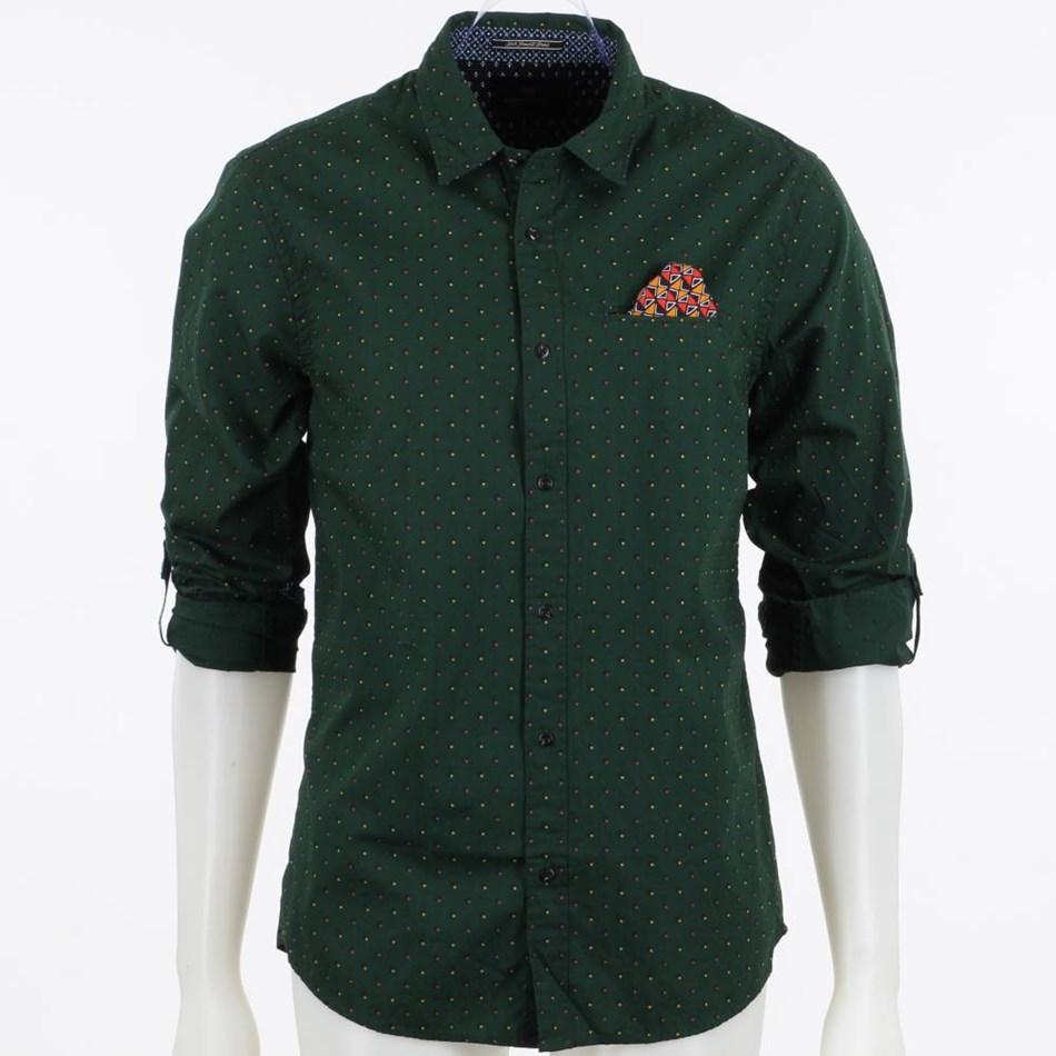 Scotch & Soda Classic Shirt - green aop