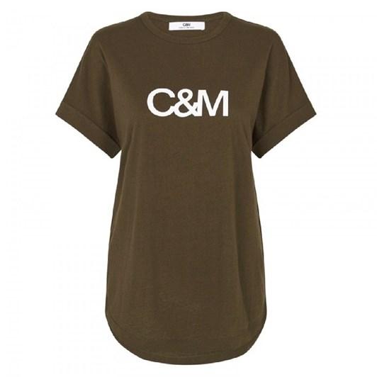 C & M Huntington Logo Slub Tee