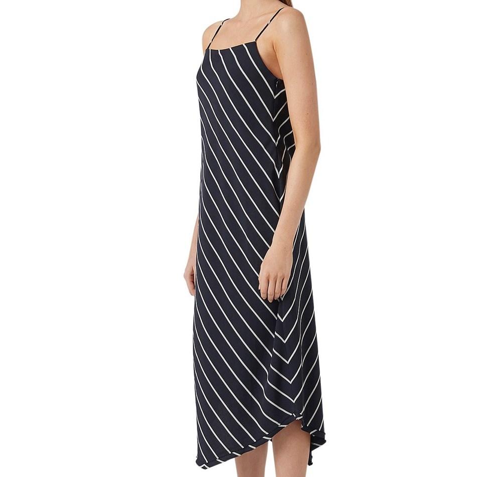 C & M Arella Dress - nvy white stripe