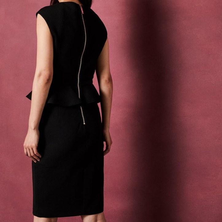 Ted Baker Bow Detail Peplum Dress -