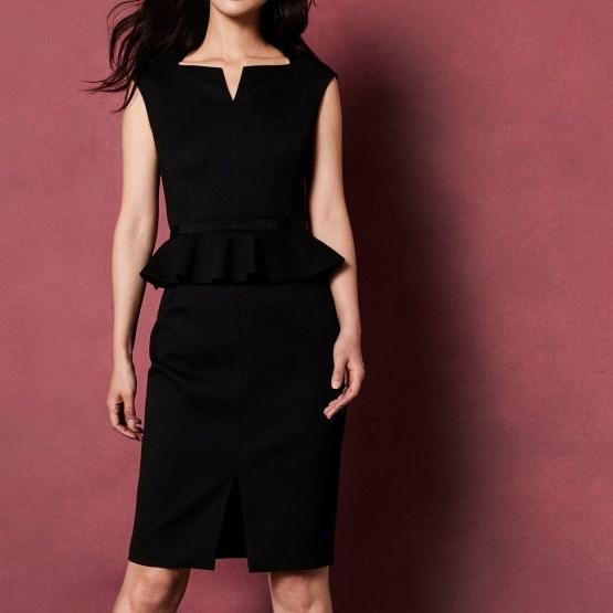 Ted Baker Bow Detail Peplum Dress - 00 black