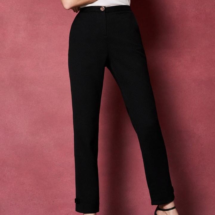 Ted Baker Bow Detail Textured Trouser - 00 black