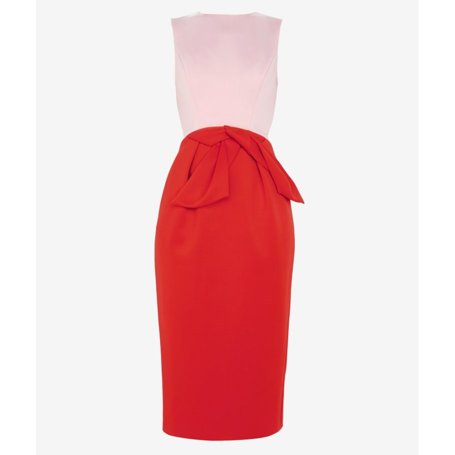 Ted Baker Tulip Bow Dress - 46 mid red