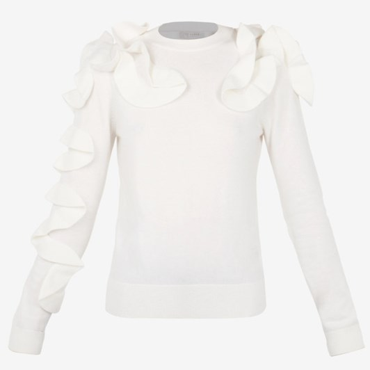 Ted Baker Frill Slve And Shoulder Jumper