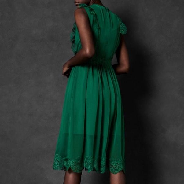 Ted Baker Frill Lace Midi Dress -