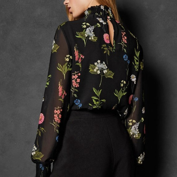 Ted Baker Florence Sheared Blouse -