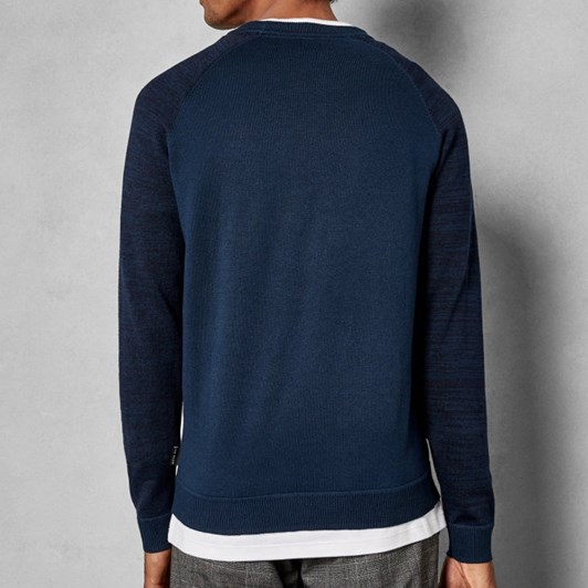 Ted Baker Ls Space Dye Sleeve Crew Neck