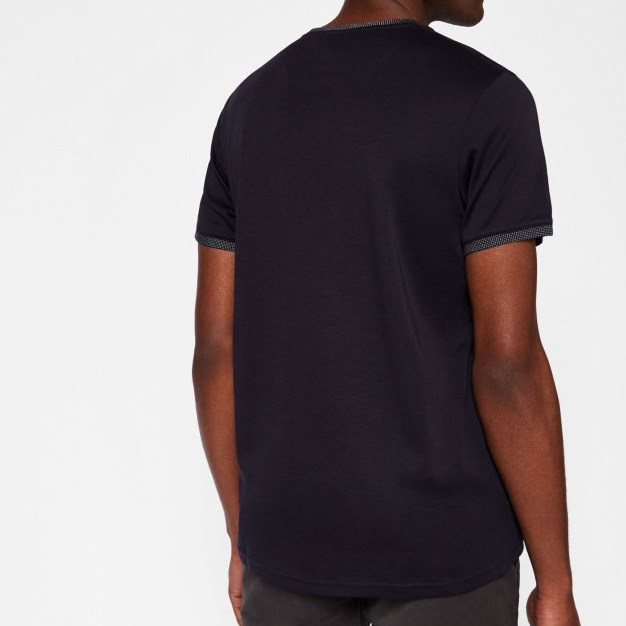 Ted Baker Ss Jacquard Detail T-Shirt - 10 navy