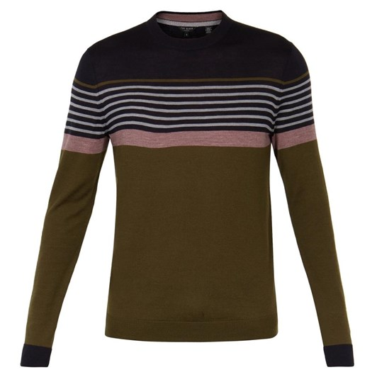 Ted Baker Ls Stripe Crew Neck