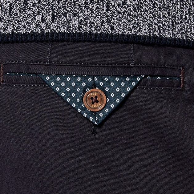 Ted Baker Slim Fit Chinos - 10 navy