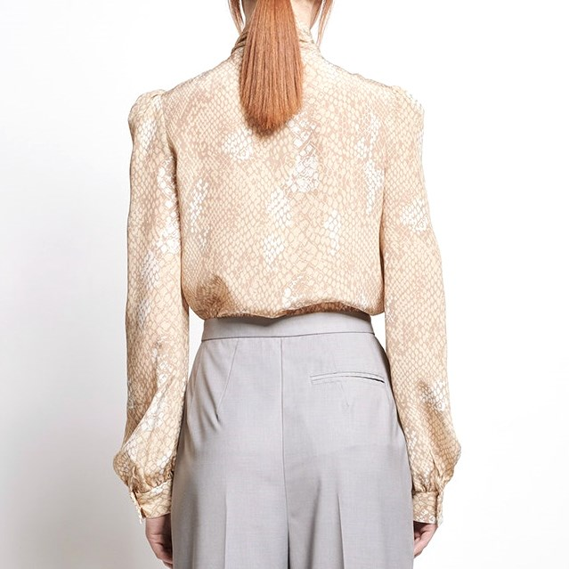 Karen Walker Babylon Blouse - Bad Apple Crepe -