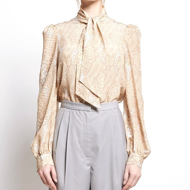 Karen Walker Babylon Blouse - Bad Apple Crepe - natural