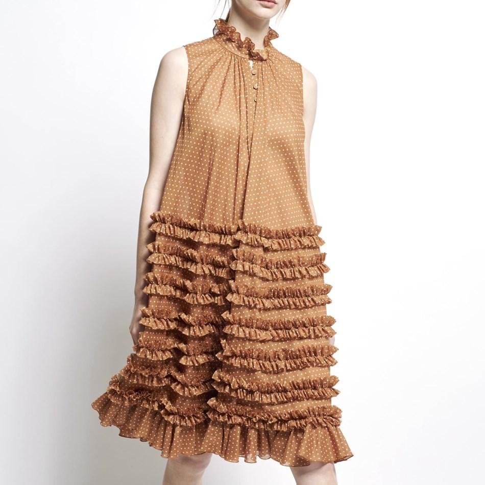 Karen Walker Joan Dress - chestnut