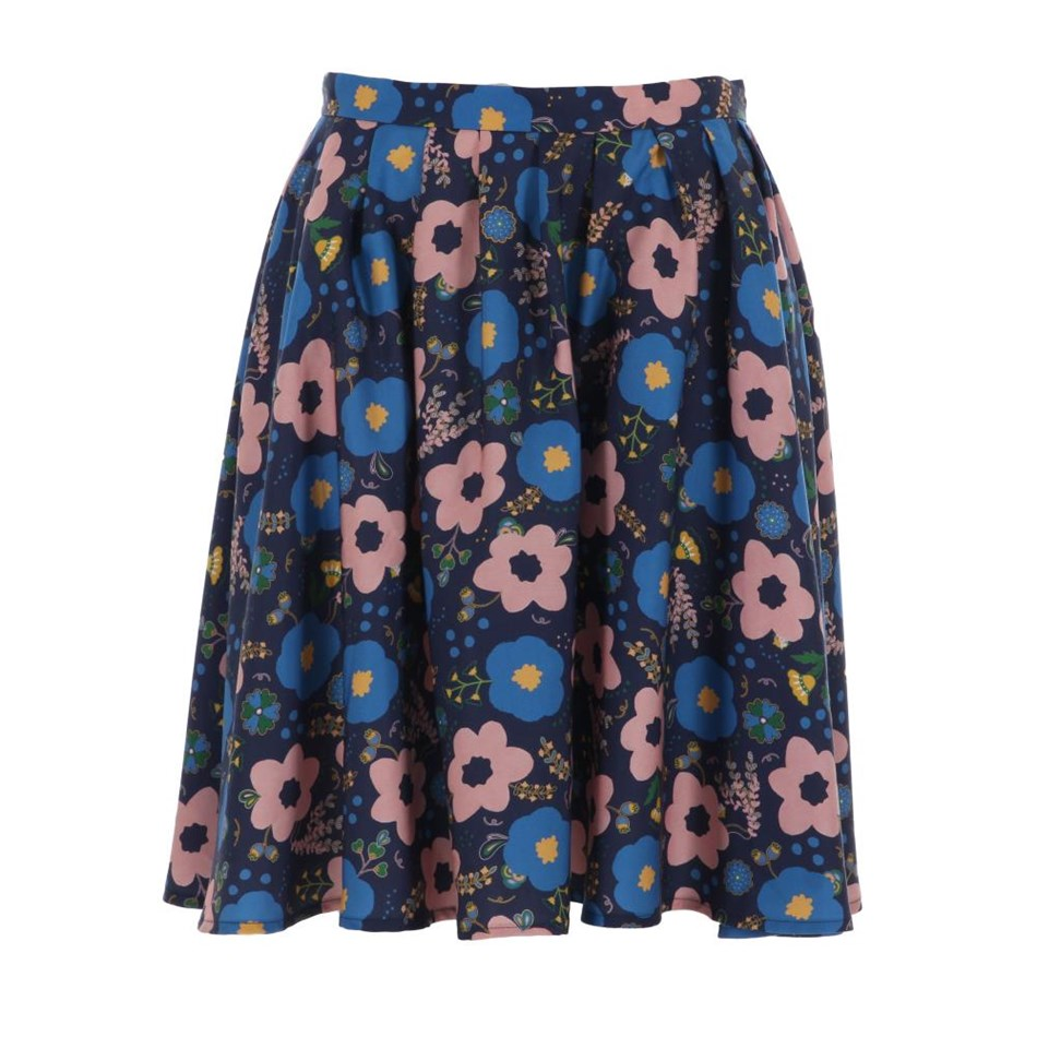 Twenty Seven Names Angel Skirt - navy floral
