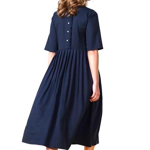 Twenty Seven Names Dido Dress - soft navy