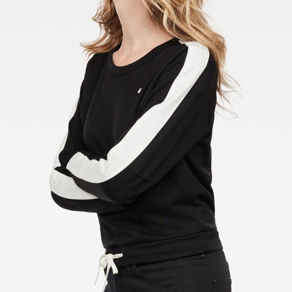 G-Star Nostelle Cropped Sweatshirt L/S Wmn - dk black milk