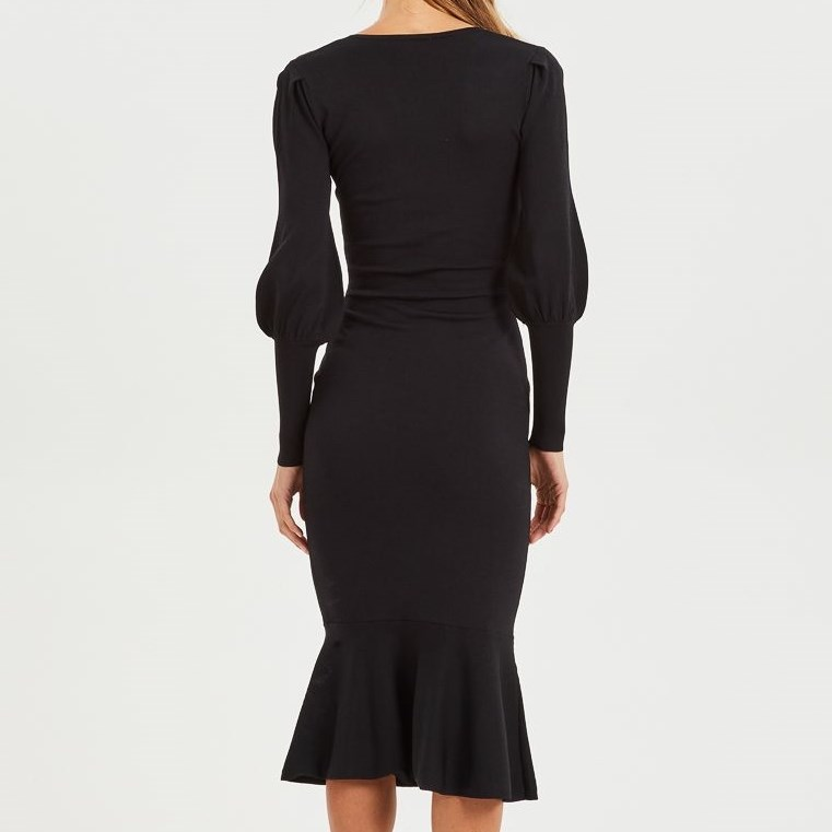 Cooper Street Alexandra Fitted Knit Dress -