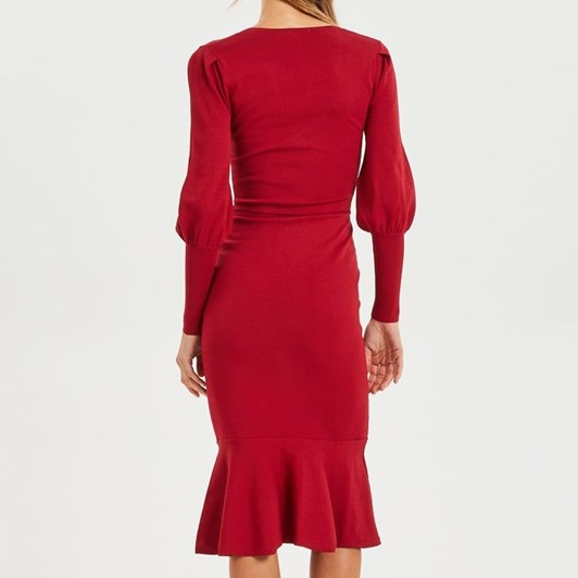 Cooper Street Alexandra Fitted Knit Dress