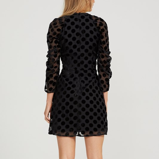 Cooper Street Spin Me Around Mini Velvet Spot Dress