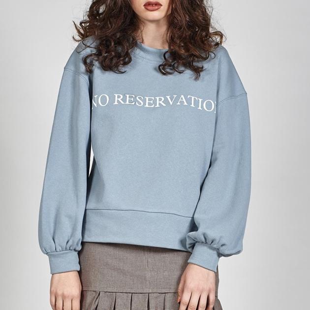 Leo + Be No Reservations Sweat - dusky blue