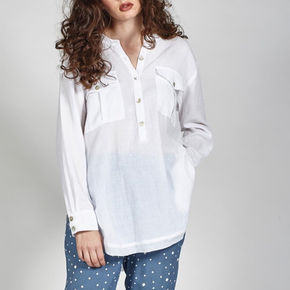 Leo + Be Unwind Shirt - white