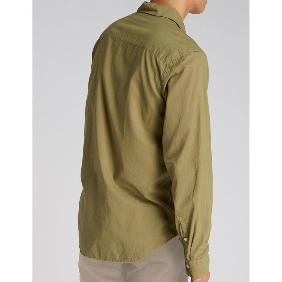 Jac + Jack Folded Collar Shirt - regiment green