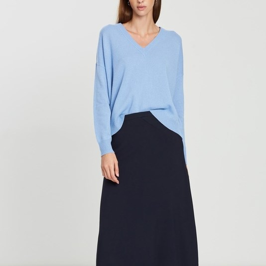 Jac + Jack Cosmo Sweater - moffat blue