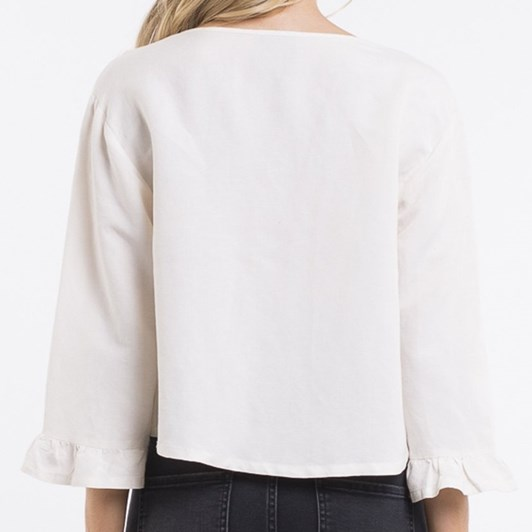 All About Eve Lisa Ruffle Top