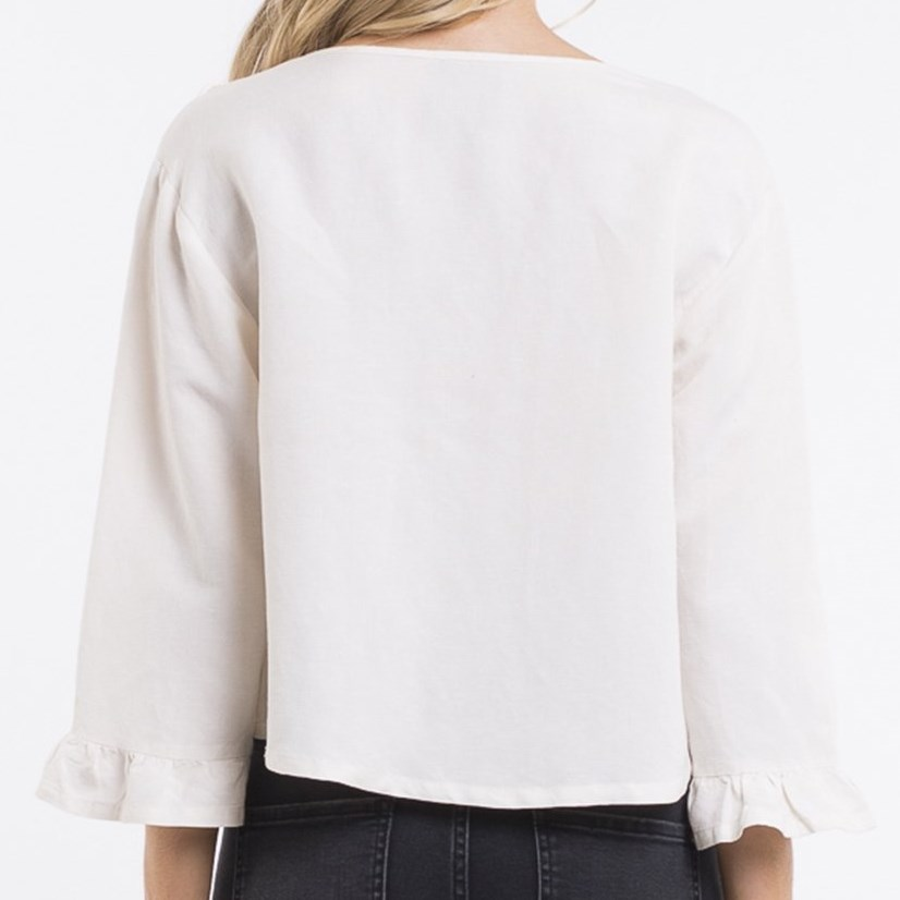 All About Eve Lisa Ruffle Top -
