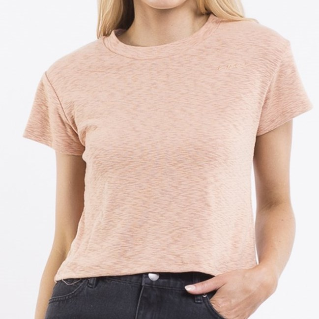 All About Eve Mya Textured Tee - fawn