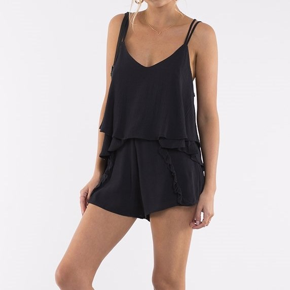 All About Eve Ivy Frill Cami - black