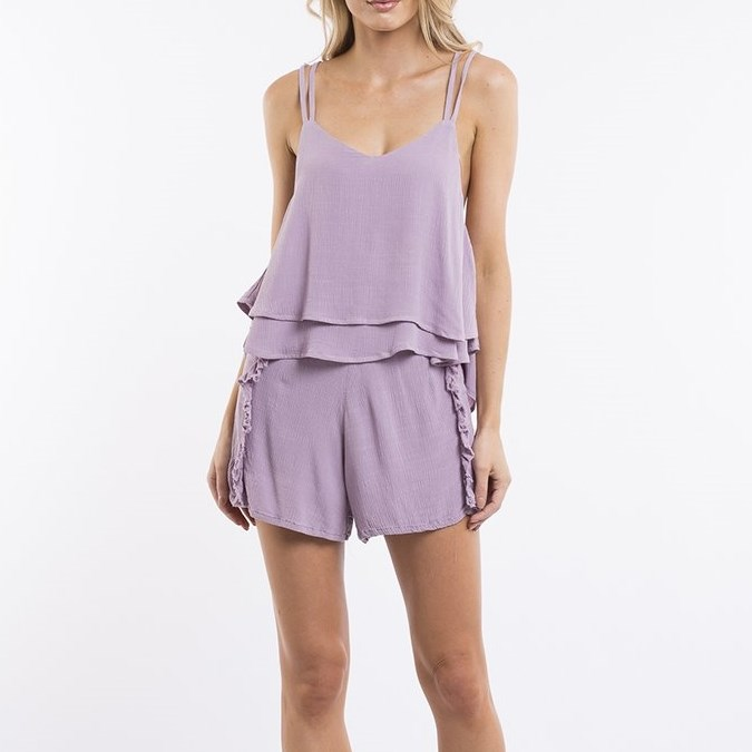 All About Eve Ivy Frill Cami - mauve