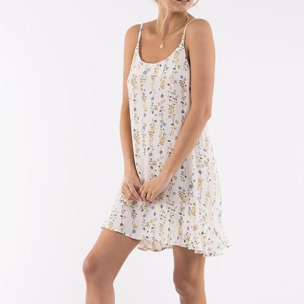All About Eve Sheri Dress - cream botanical