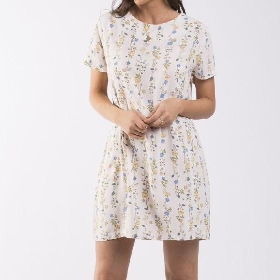 All About Eve Botanical Shift Dress - cream botanical