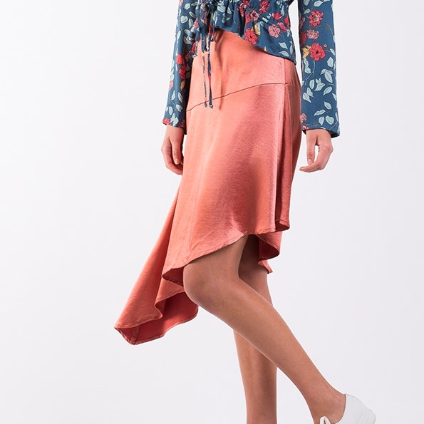 All About Eve Coco Assym Skirt - bloom