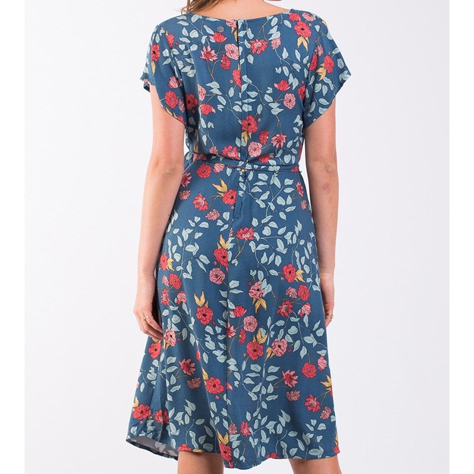 All About Eve Camellia Mock Wrap Dress -