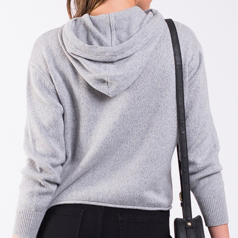 All About Eve Solid Knitted Hoody -