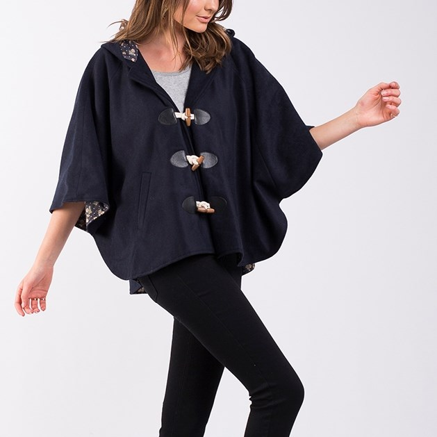 All About Eve Rebel Cloak - navy