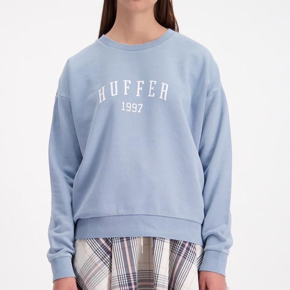 Huffer Slouch Crew / Hfr Colour - steel blue