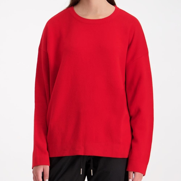 Huffer Neve Knit Crew - red