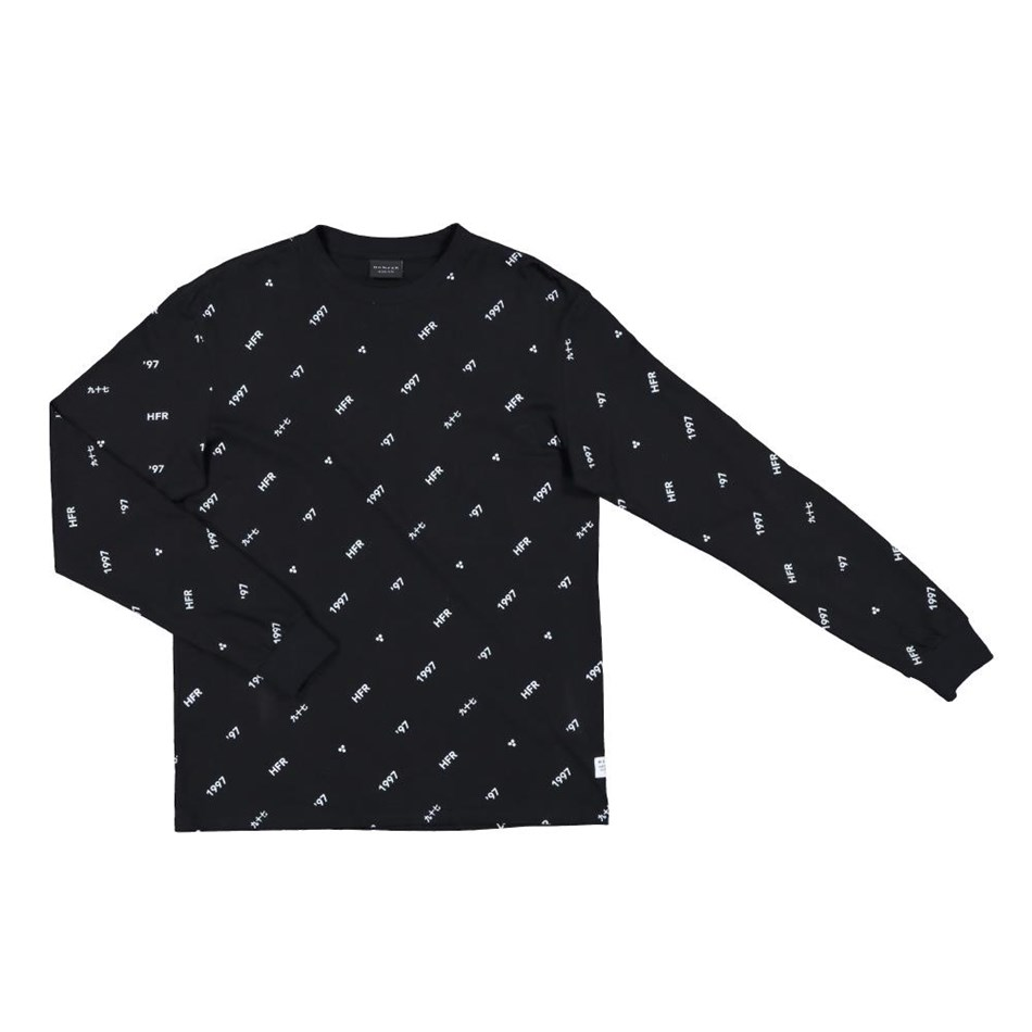 Huffer Lucky 97 L/S Sup Tee - black