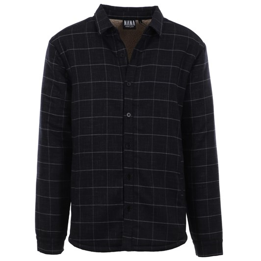 Nana Judy Colby Mens Oversize Shirt With Sherpa Lining