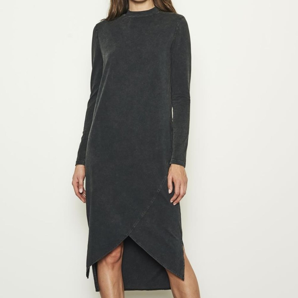Nana Judy Quattro Polo Neck L/S Dress - vintage black