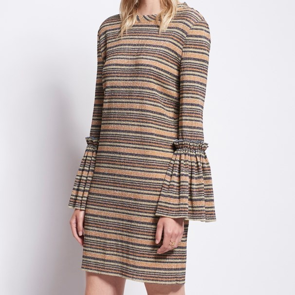 Karen Walker Queen's Knight Dress - grey-gold