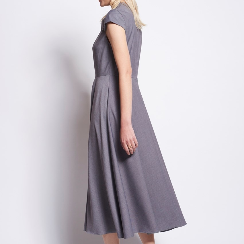 Karen Walker Queen's Bishop Dress - dark grey