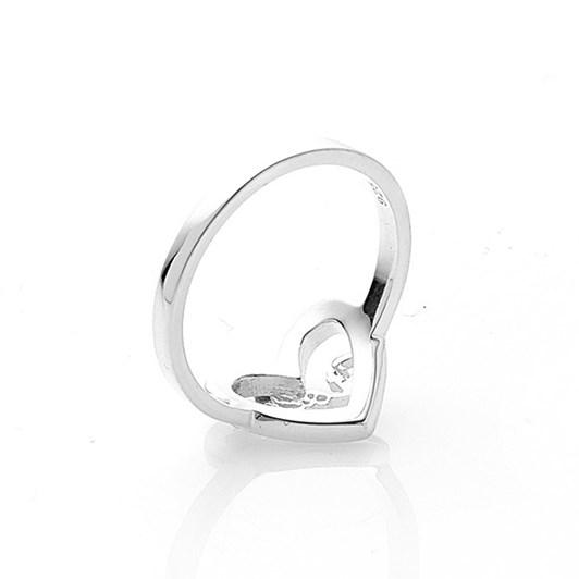 Stolen Girlfriends Club Heart Script Ring