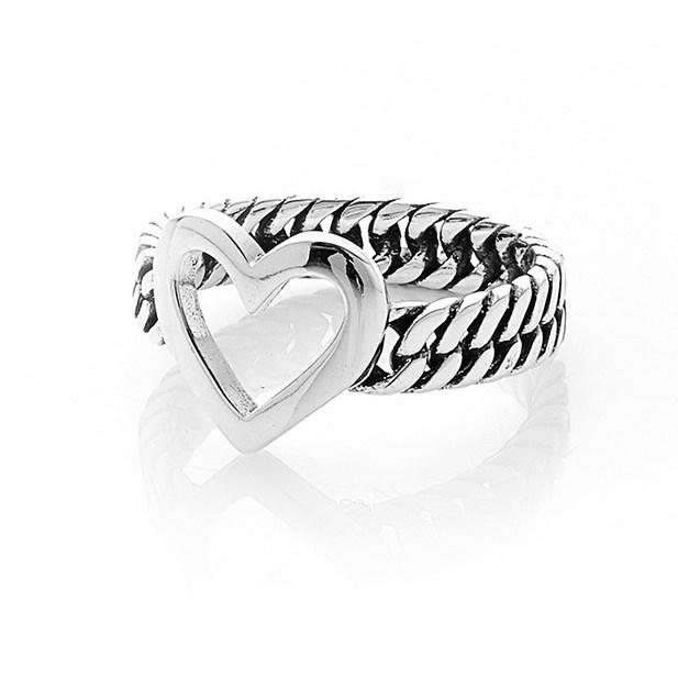 Stolen Girlfriends Club Curb Heart Ring - stg