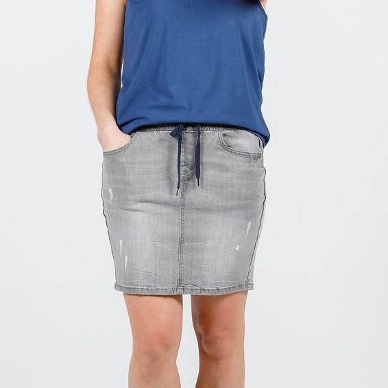 Home-Lee Denim Skirt - grey