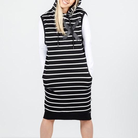 Home-Lee Hooded Vest Dress - X Print